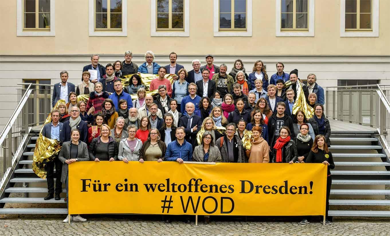 Die Mitarbeiter des Staatstheaters für ein weltoffenes Dresden