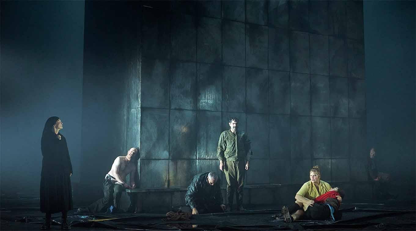 Ein Theater in Stil der Hell-Dunkel Malerei